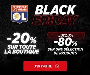 Bon plan Black Friday :  -20% sur toute la boutique  + jusqu'à -80% sur une sélection produits
