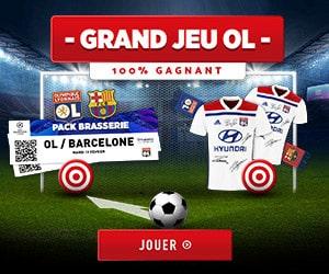 Bon plan Jeu concours 100% gagnant OL vs Barcelone