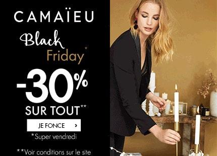 Bon plan Black Friday : 30% sur tout le site & 20€ offerts sur les manteaux, doudounes et parkas