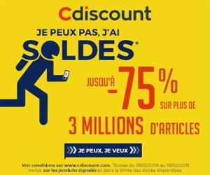 Bon plan Soldes : jusqu'à 75% de remise chez Cdiscount