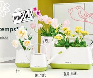 Bon plan YULA qui propose le pot + le vase + l'arrosoir + la jardinière pour seulement 49,99 €