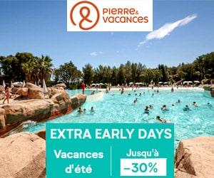 Code promo Vacances ÉTÉ : jusqu'à - 30% + 5% suppl. avec code promo