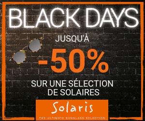 Bon plan Black Days : jusqu'à -50% sur une sélection de lunettes de soleil