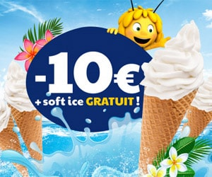 Bon plan 10€ de réduction + soft ice gratuite