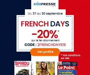 Code promo FRENCH DAYS magazines : 20% de réduction sur votre 1er abonnement presse