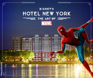 Bon plan Lancement Disney's Hotel New York - The Art of Marvel : demi - pension INCLUSE + une oeuvre Marvel exclusive OFFERTE