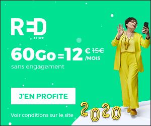 Bon plan Forfait Red by SFR 60 Go à 12 € + Option SFR Sécurité offert